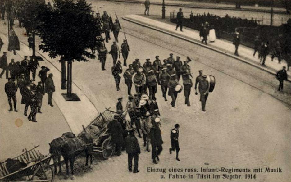 Herzog-Albrecht-Platz, Einzug eines russischen Infanterie-Regimentes mit Musik