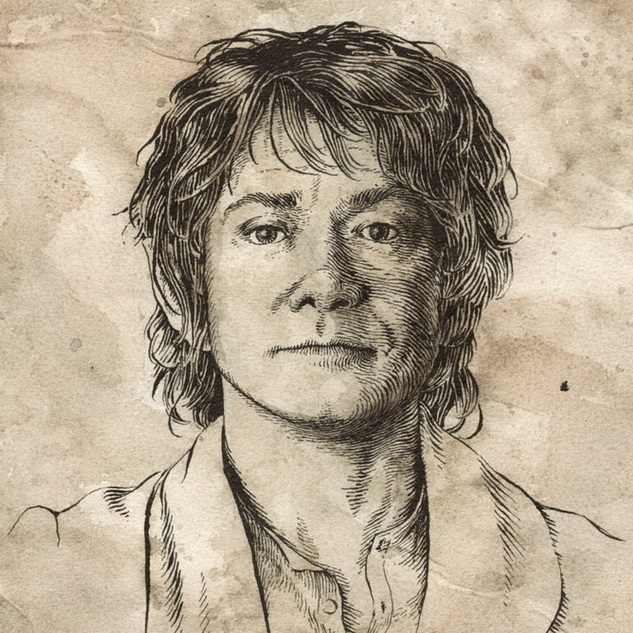 Bilbo Baggins by Daniel Reeve (for Unexpected Journey prop)