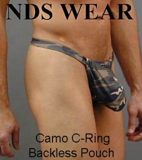 Camo C-ring Backless Pouch