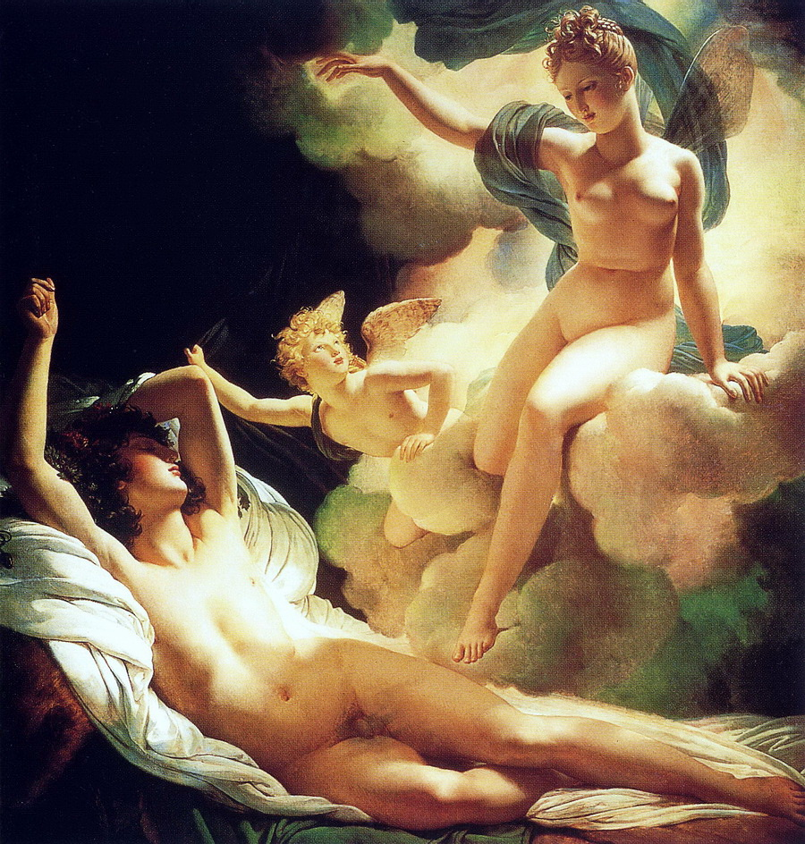 Morpheus and Iris by Guérin, at the Hermitage, 1811, slightly cropped large image
