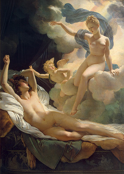 Morpheus and Iris by Guérin, at the Hermitage, 1811, full painting
