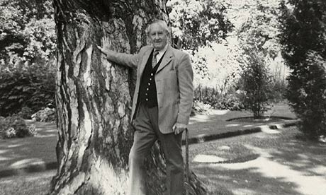 Tolkien and favourite tree, 1973-08-09
