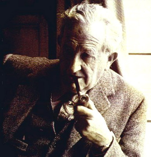 Tolkien portrait, very well-known, sepia tint