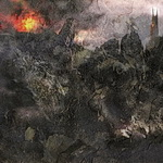 Barad-dûr and Mt. Doom, variation 2, by John Cockshaw-ICON