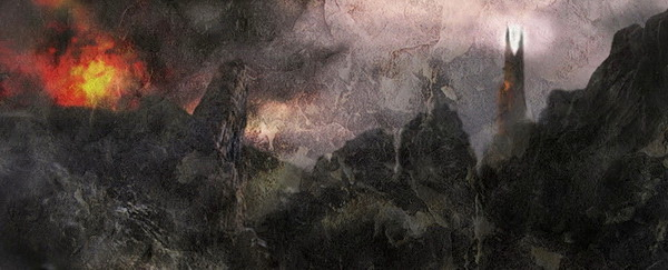 Barad-dûr and Mt. Doom, variation 2, by John Cockshaw-TEASER crop