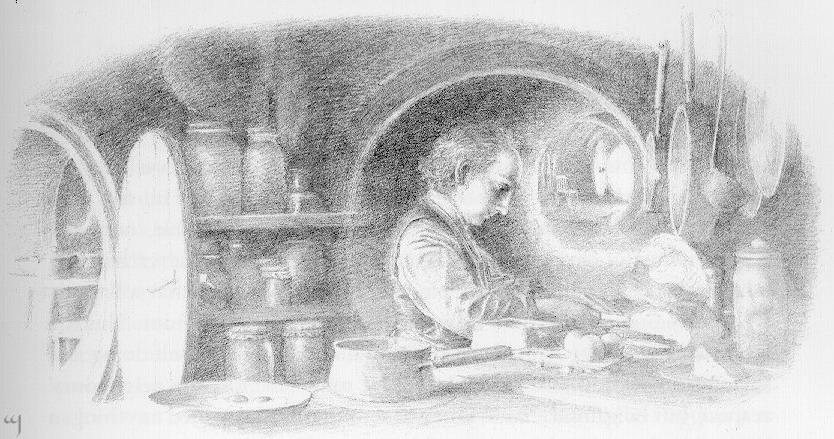 Bilbo in kitchen-FULL IMAGE