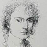 Frodo Baggins, portrait sketch by Alan Lee-ICON