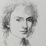 Frodo Baggins, portrait sketch by Alan Lee-ICON