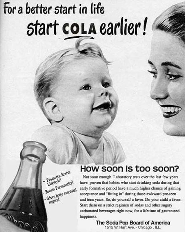 For better start in life, start Cola earlier