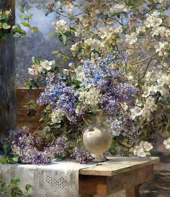 Marie Egner. Flowery Pergola (1893)