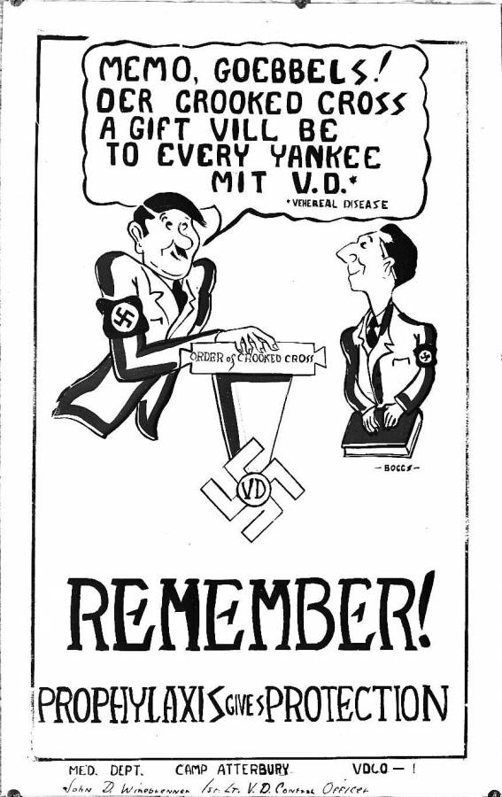 Картинка дня: венерические заболевания как агент Гитлера