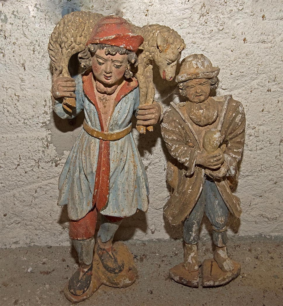 Пастухи и агнец Божий из рождественского вертепа