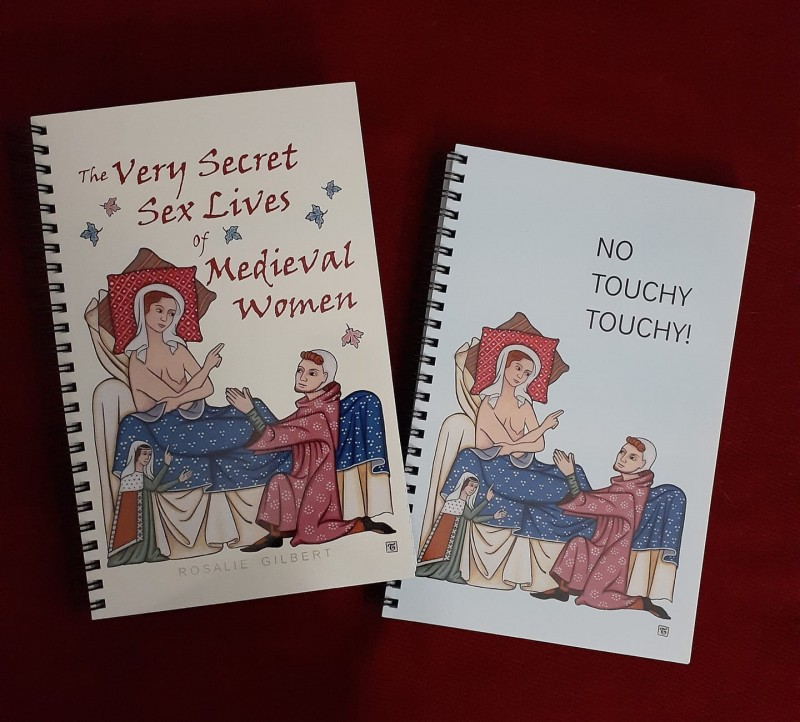 Notepad for giveaway and one that just says No Touchy Touchy!