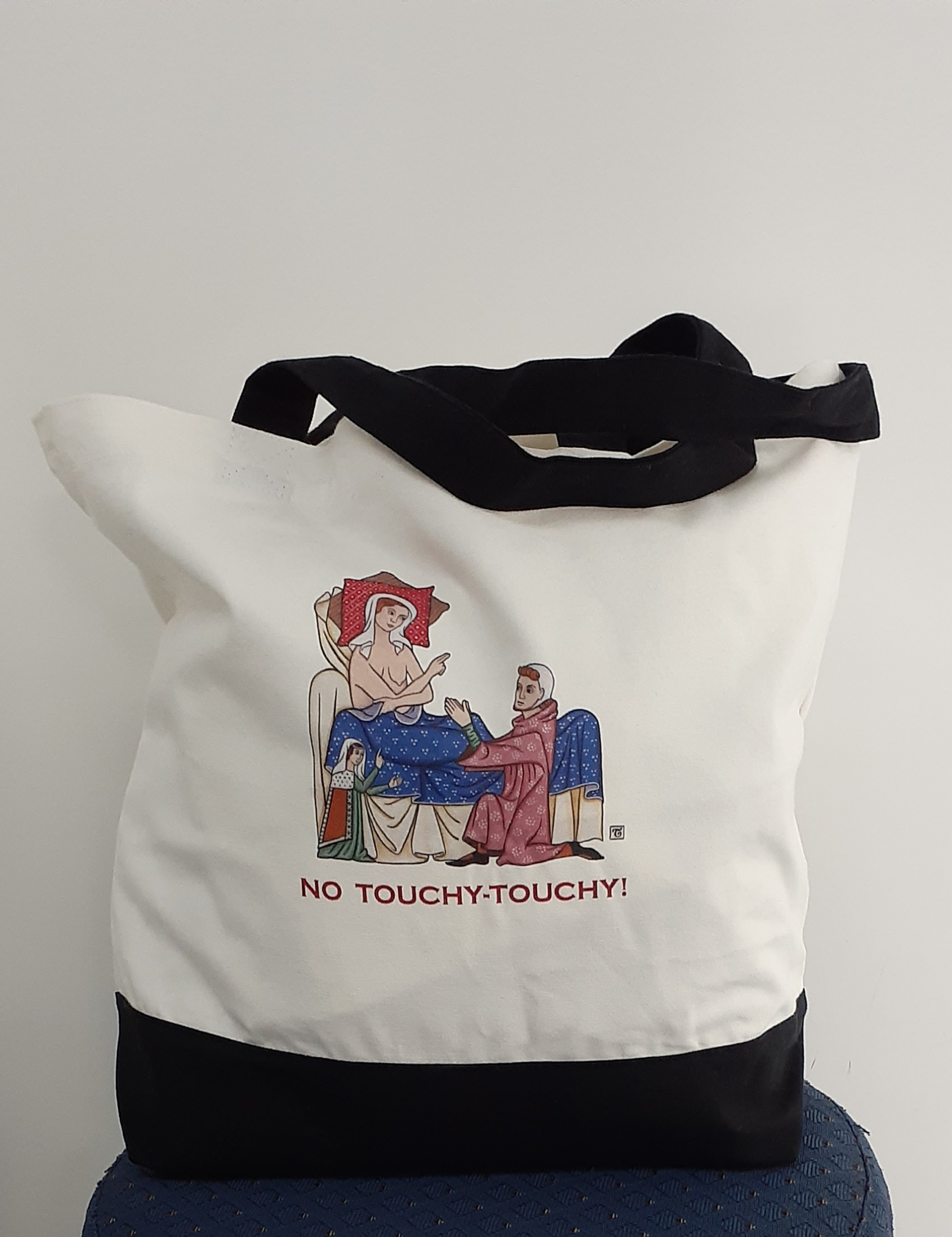 No touchy-touchy tote bag