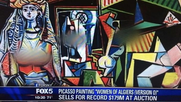 Woman of Algiers, painted by Pablo Picasso, censored by Fox.