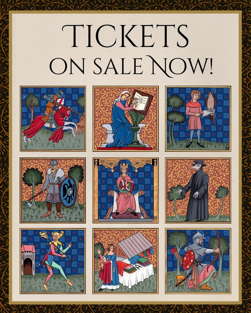 Abbey Medieval Festival tickets on sale! Artwork by  (c) Tania Crossingham.
