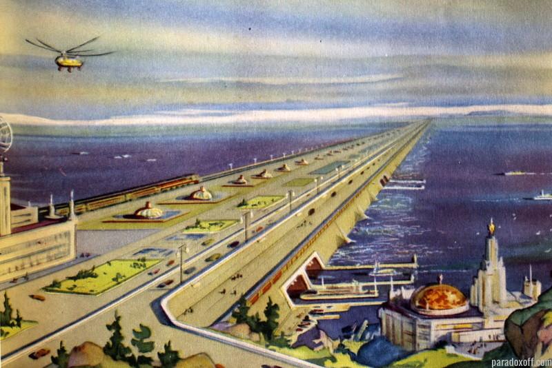 Инженер Петр Борисов в 1960-х годах предложил построить поперек Берингова пролива плотину - Великие Северные экспедиции