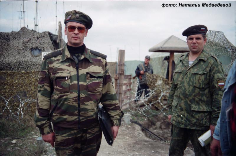 Генерал-полковник Анатолий Александрович Романов в Ханкале, Грозный, Чечня, 27 сентября 1995 года. Фото: Натальи Медведевой.