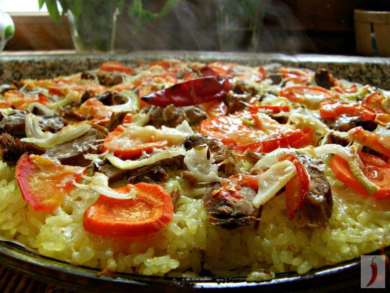 Оригинальное  и быстрое блюдо пицца-плов!