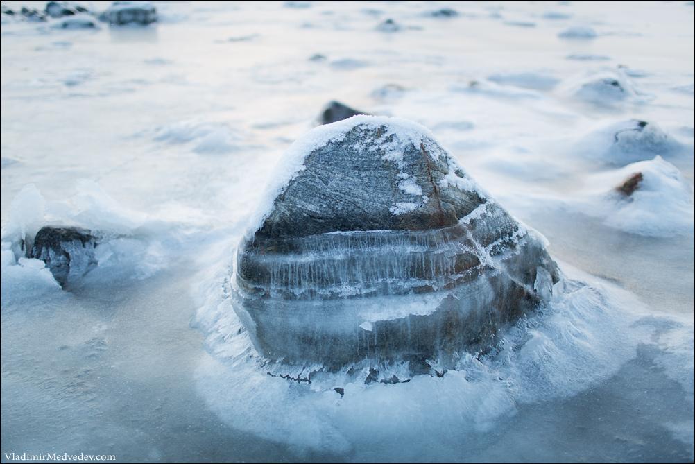 Ледяной камень, Белое море.