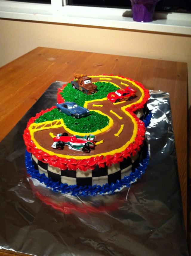 Lightening Mcqueen Cake For My Son S 3rd Birthday Cake