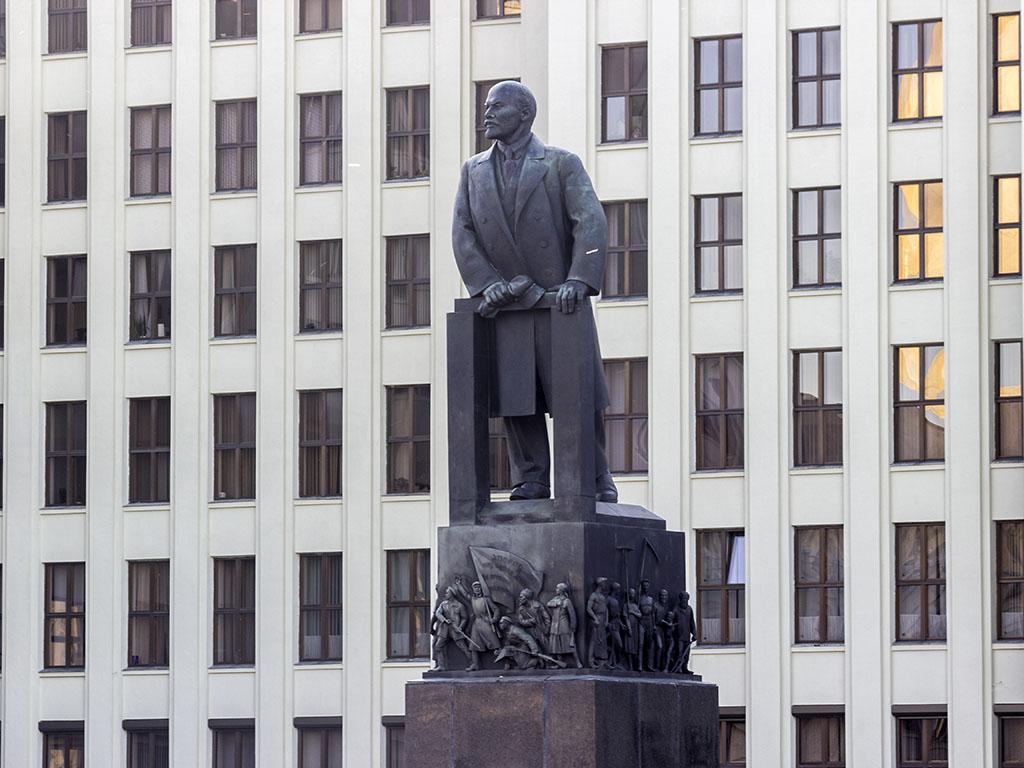 Минск Площадь Независимости Ленин