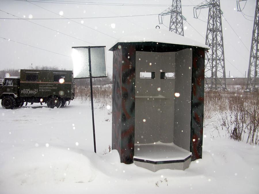 Новая будка охранников, чтобы отстреливаться.