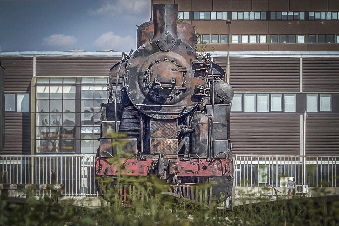 Американский паровоз в тольяттинском техническом музее
