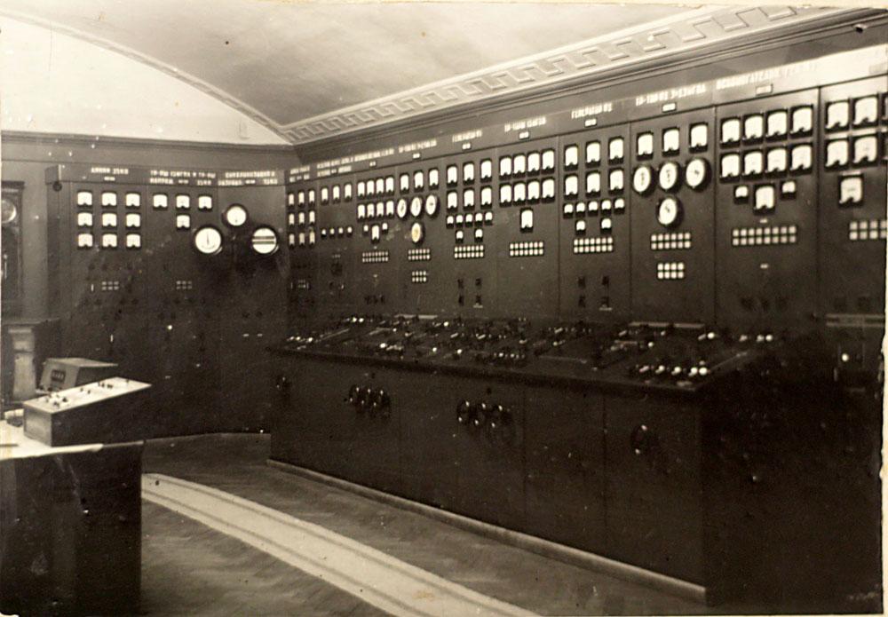 Угличская ГЭС Пульт управления