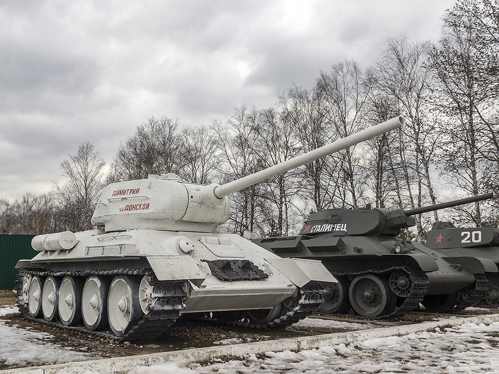 T-34-85 в зимнем камуфляже