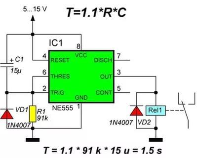 Конструкции на интегральном таймере 555