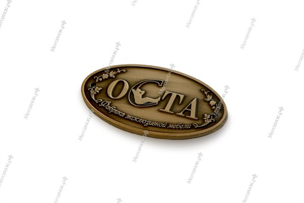шильд ОСТА_изготовление шильдов на заказ в Екатеринбурге, Москве, Новосибирске_Мегазнак