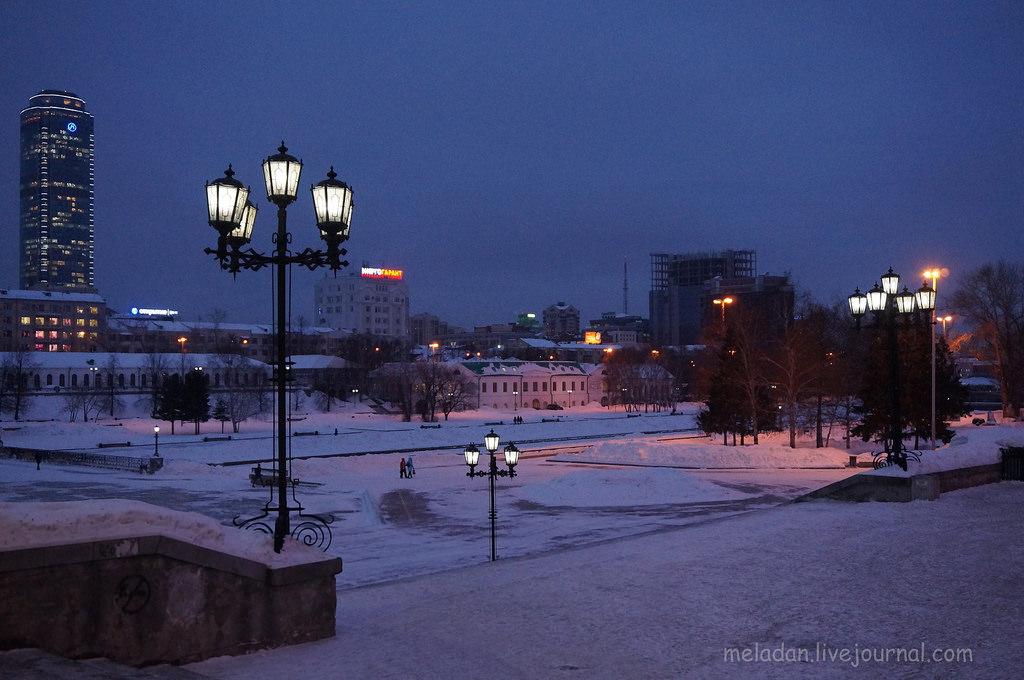 ночные зимние фото екатеринбурга