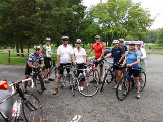 The Sterling chaper of Bike Me! DC in Leesburg before riding west to Purcellville, 9/25/11.