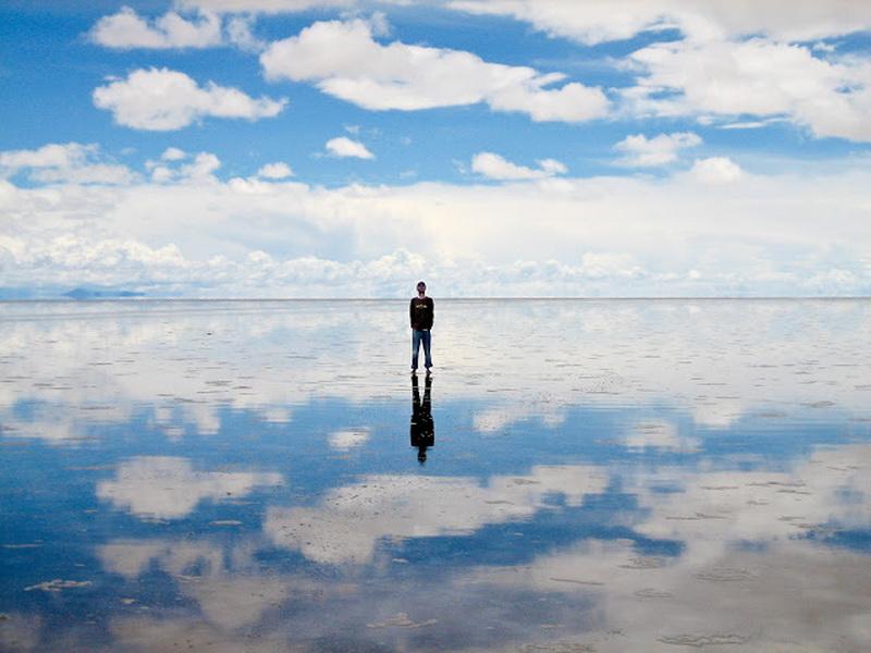 Соляное зеркало под открытым небом