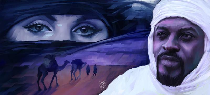 Антара ибн Шаддад. Современная версия портрета. Настоящего, конечно, не сохранилось.