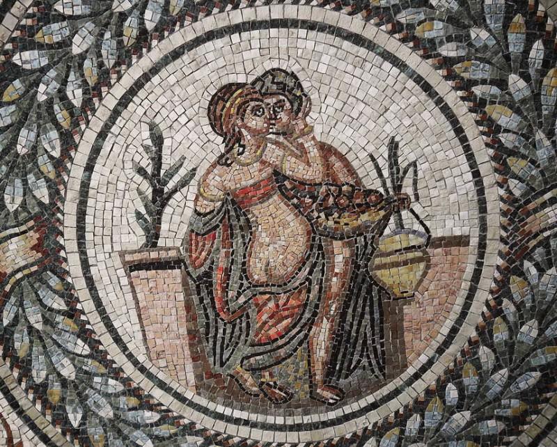 Мозаиками украшали храмы и жилища, бани и публичные дома.