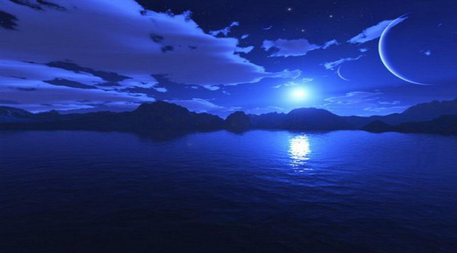 Картинки синяя ночь отражателем