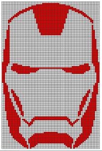 Strickvorlage Iron Man