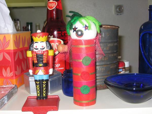 toilet paper clown