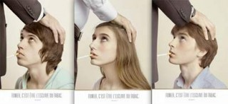 anti-smoking campaign, 3 images