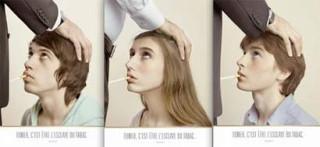 anti-smoking campaign, 3 images