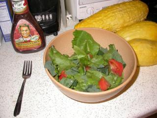 quinoa leaves in salad