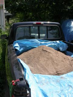 sand in pickup
