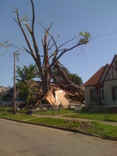 tornado one block away