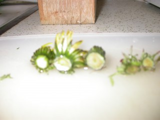 dandelions prepared
