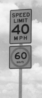 dual speed signs