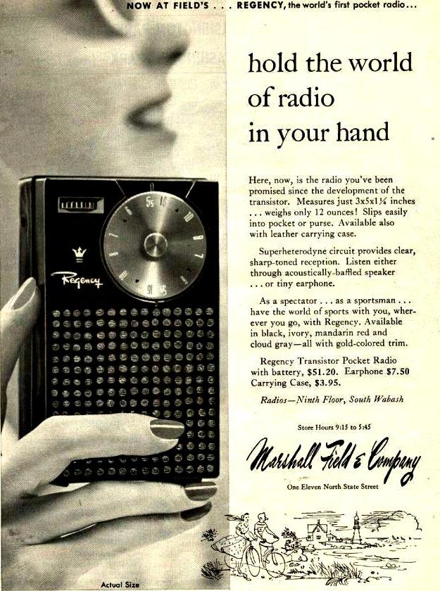 transistor radio Marshall Fields