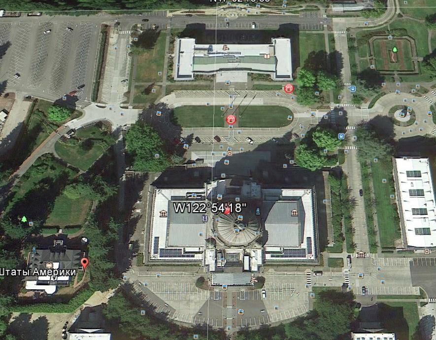 """Конгресс США, координаты 47° 2'8.86""""С 122°54'17.06""""З, главный управляющий центр нынешней цивилизации, ориентирован на нынешний полюс"""