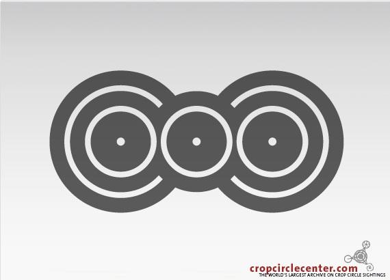 диаграмма круга на поле в Момале, Бельгия, появился 2.07.2009.